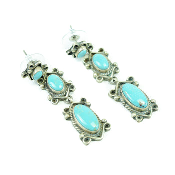 Jewelry  earrings, navajo, southwest, turquoise  Navajo Turquoise Earrings