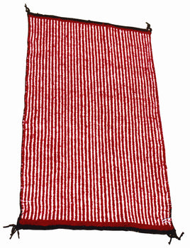American Indian  1' to 4', navajo, southwestern, twill, weavings  Red and White Twill
