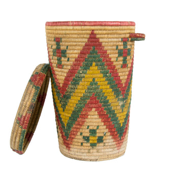 American Indian  apache, baskets  Jicarilla Apache Waste Basket