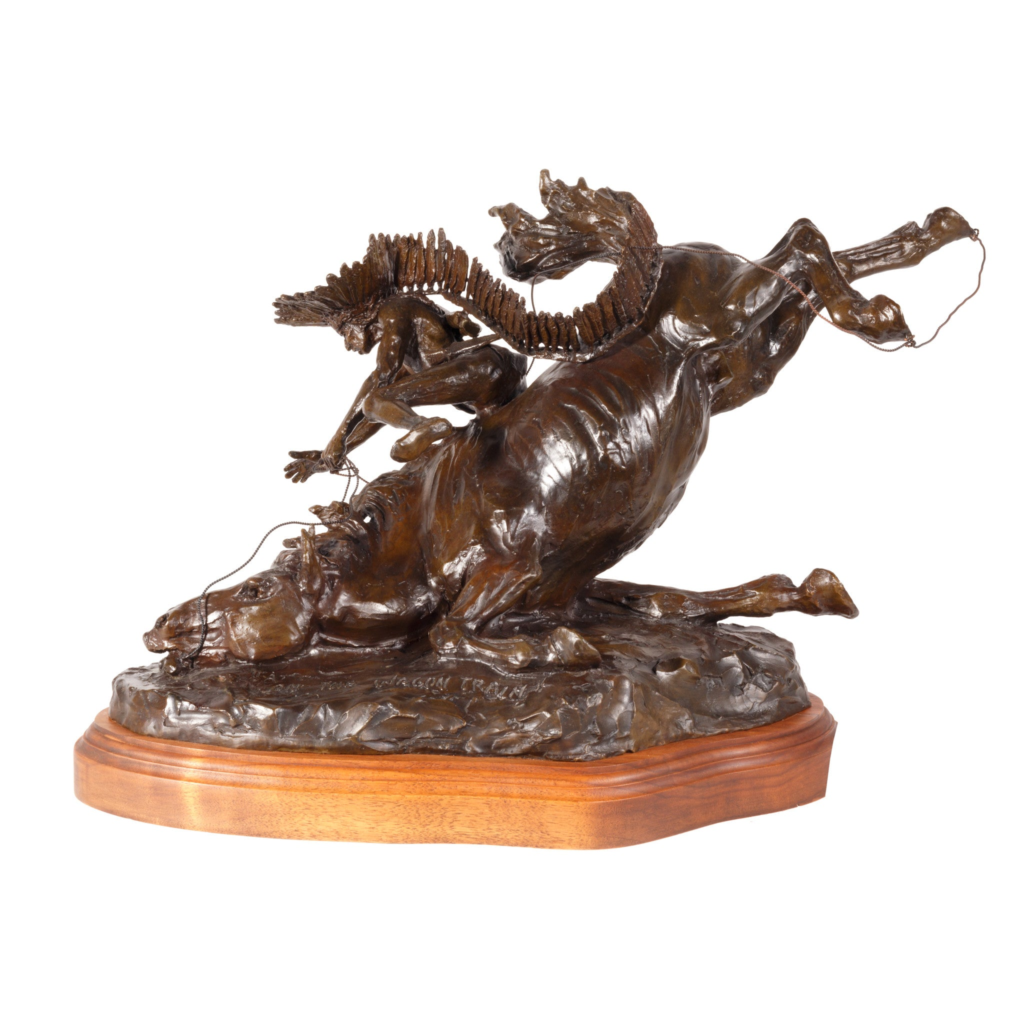 """Attack on the Wagon Train"" Bronze by Robert Scriver caa, cowboy artists of america, limited bronzes, robert scriver"
