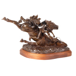 """Attack on the Wagon Train"" Bronze by Robert Scriver"