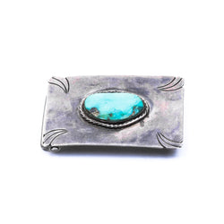 Navajo Single Turquoise Nugget Belt Buckle