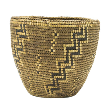 American Indian  baskets, coeur d'alene, cowlitz, klickitat, plateau  Klickitat Basket with Ascending Stair Pattern