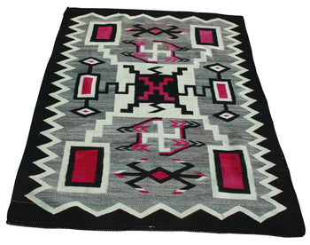 American Indian  4' to 6', jb moore, navajo, southwestern, storms, weavings  Navajo Storm