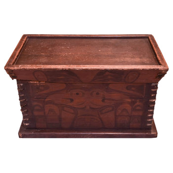 American Indian  carvings, northwest  Bentwood Style Chest