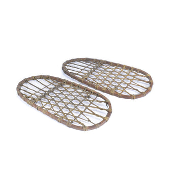 American Indian  northeast, snowshoes-native  Algonquin Snowshoes