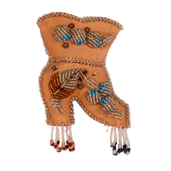 American Indian  iroquois, wall pockets, whimsies  Whimsy Boot Wall Pocket