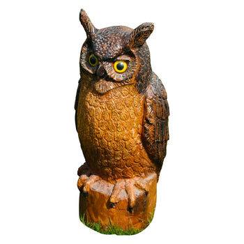 Lodge Furnishings  carvings, folk art, owl  Well Carved