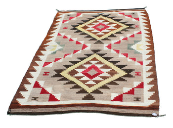 American Indian  6' to 8', ganados, navajo, weavings  Navajo Gando Weaving