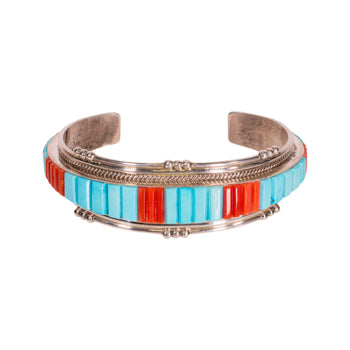Jewelry  bracelets, coral, sterling silver, turquoise  Coral and Turquoise Bracelet
