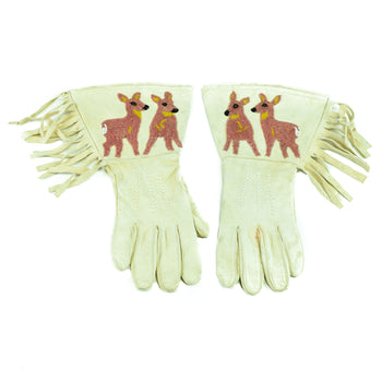 American Indian  beadwork, gauntlets, horse gear, pictorials  Plateau Gauntlets