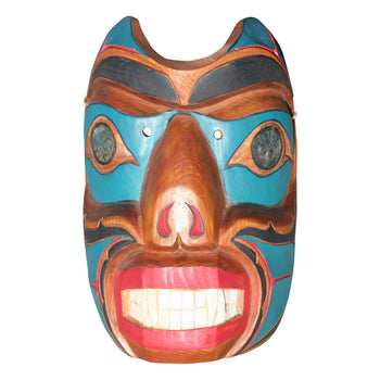 American Indian  carvings, masks, totems  Northwest Bear Spirit Mask