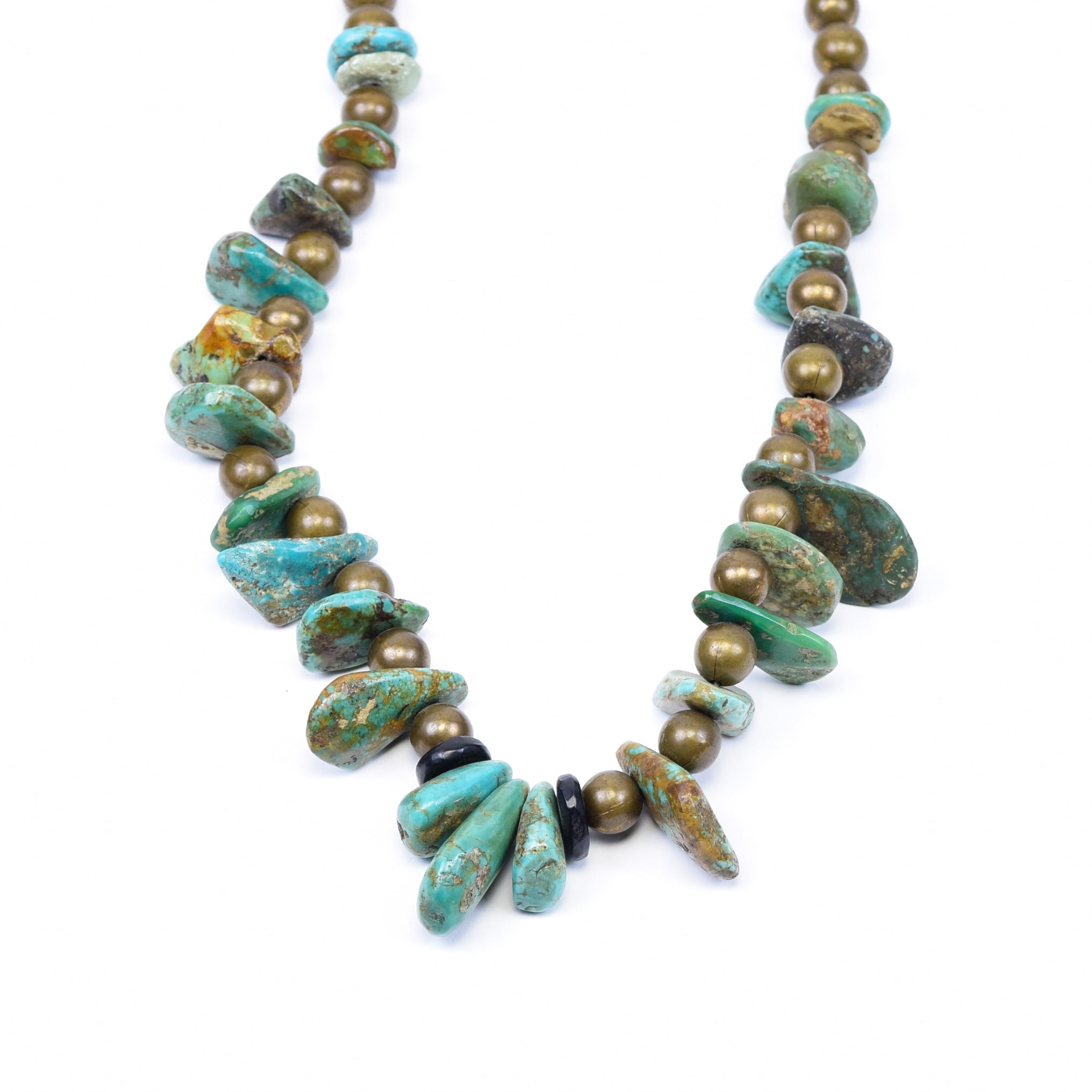 Old Navajo Turquoise Necklace navajo, necklace, old pawn, southwest, turquoise
