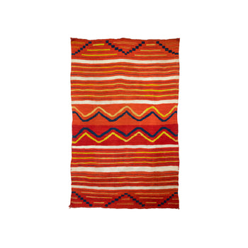 American Indian  4' to 6', blankets, child's, weavings  Navajo Classic Child's Wearing Blanket