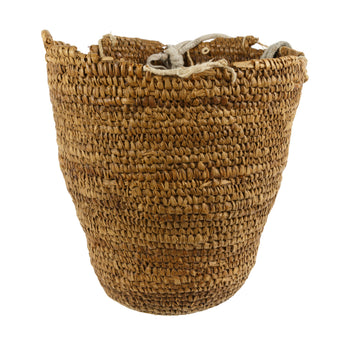 American Indian  baskets, klickitat, sale item  Utilitarian Klickitat Basket with Shoulder Harness
