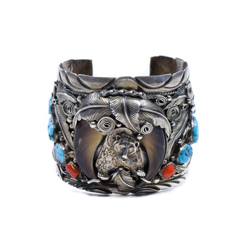 Jewelry  bear claws, bisbee, bracelets, coral, m. thomas, men's jewelry, navajo, southwest, turquoise  Mark of the Bear