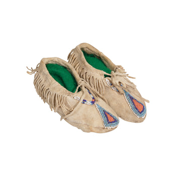 American Indian  beadwork, child's moccasins, moccasins, nez perce, northwest, plateau  Nez Perce Child's Moccasins