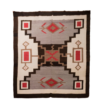 American Indian  8' +, crystals, navajo, storms, weavings  Navajo Storm Pattern Area Weaving