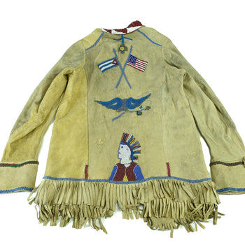 American Indian  flag crest, jacket, pictorial, sale item, shirts  American Flag Pictorial Scout Jacket