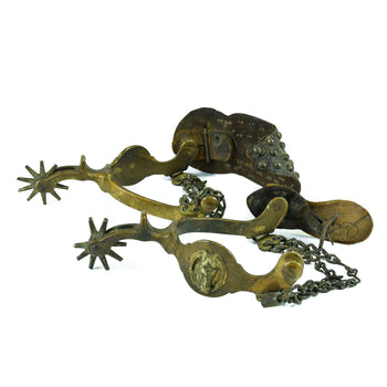 Cowboy and Western  horsehead spurs, north and judd, spurs  North and Judd Horse Head Spurs