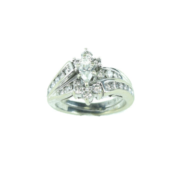Jewelry  diamond, estate, rings, white gold  Diamond Ring