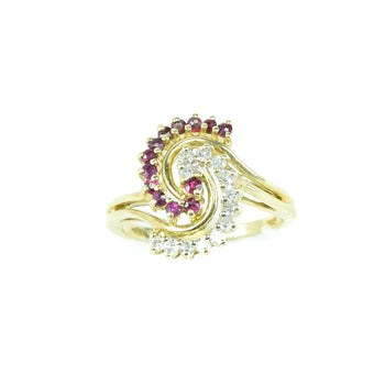 Jewelry  diamond, estate, gold, rings, ruby  Estate Ring