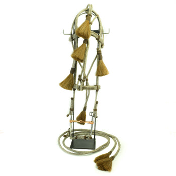 Cowboy and Western  bridles, cowboy and western: horse gear: bridle, deer lodge prison, horsehair  Deer Lodge Prison Horsehair Bridle