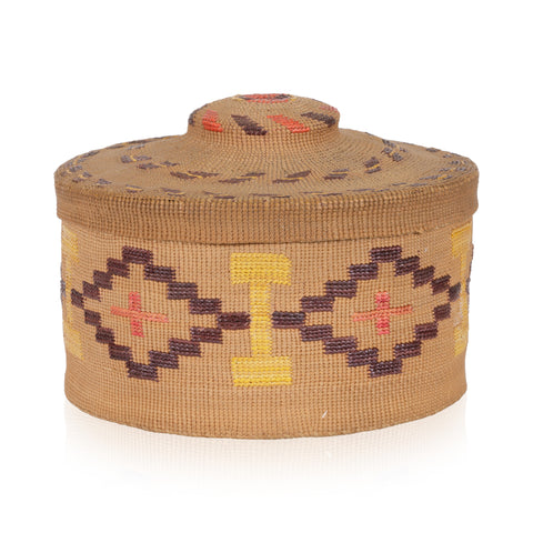 Tlingit Rattle Top Basket baskets, tlingit