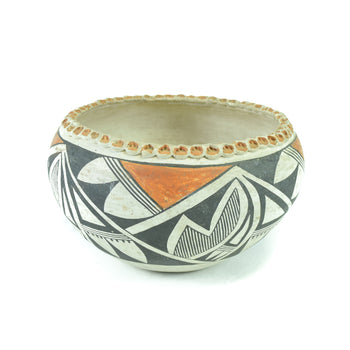 American Indian  pottery, southwest  Acoma Bowl