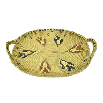 American Indian  baskets, northwest, salish, tray  Polychrome Salish Tray