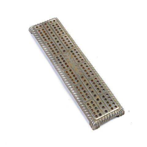 Cribbage Board with Nickel Finish cribbage boards, gambling, games, lodge furnishings other
