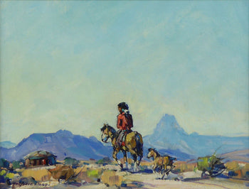 Fine Art  marjorie reed, oil, paintings-native  Heading to the Hogan by Marjorie Reed