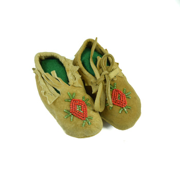 American Indian  baby moccasins, beadwork, child's moccasins, moccasins, plateau  Plateau Baby Moccasins