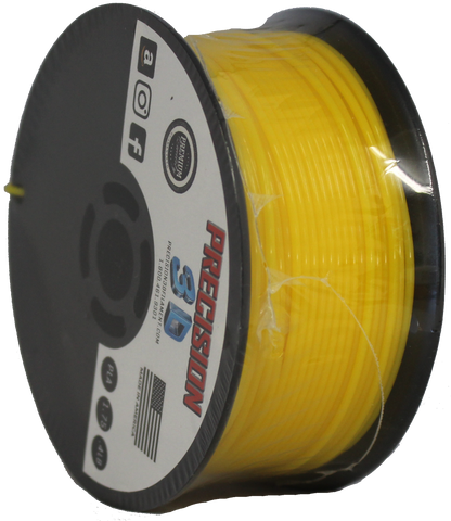 "Lemon Yellow Mini ""Slider"" Size Spool PLA 1.75MM Filament .4LB [180 Grams]"