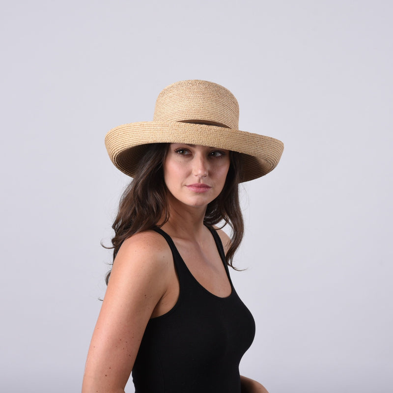 Sconset, Large Brim - Narrow Braid Raffia