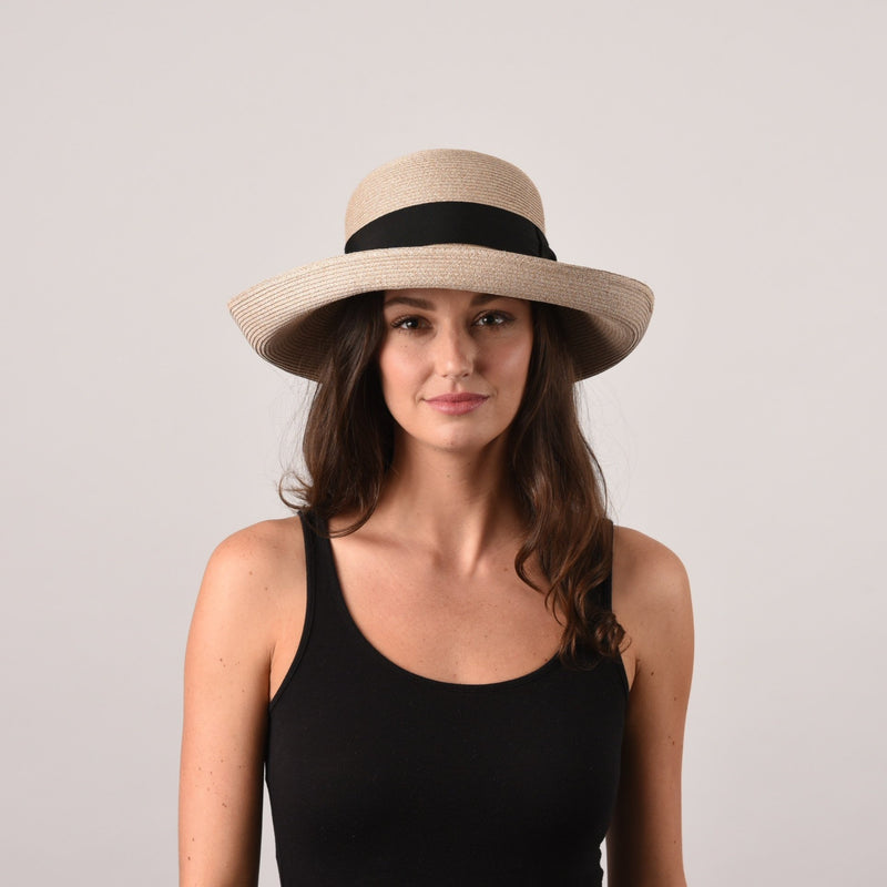 Sconset, Medium Brim - Packable straw
