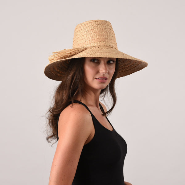 Galley Beach, Medium Brim - Wide Braid Raffia