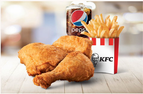 Two piece chicken combo from KFC Jamaica