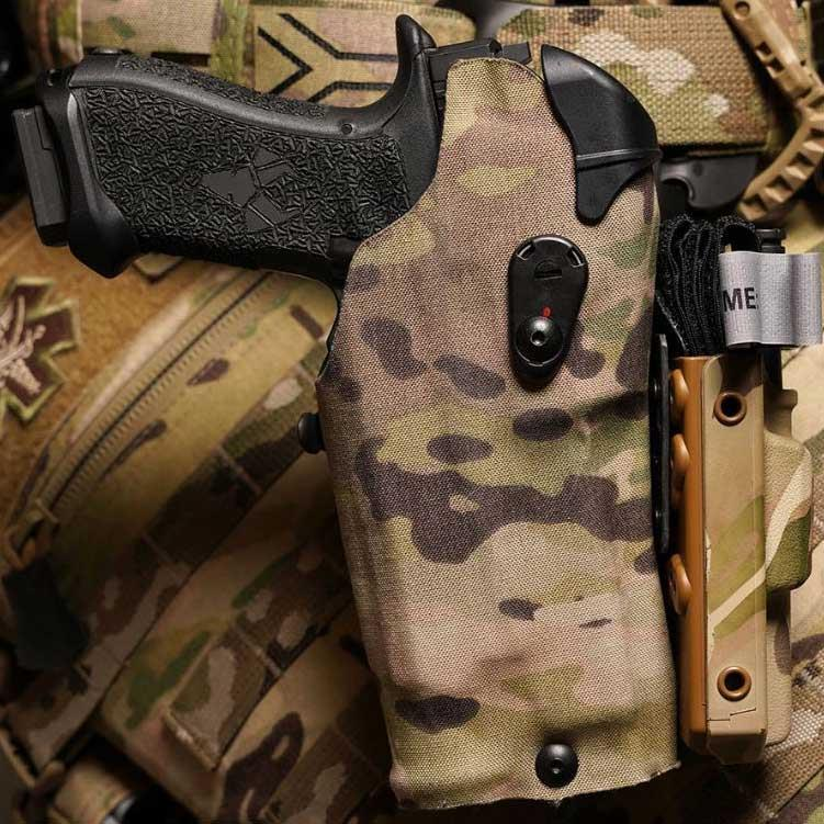 Black Box Customs Negative Cant Plate Equipment mount (NCP-E) for Safariland Holsters (Right)
