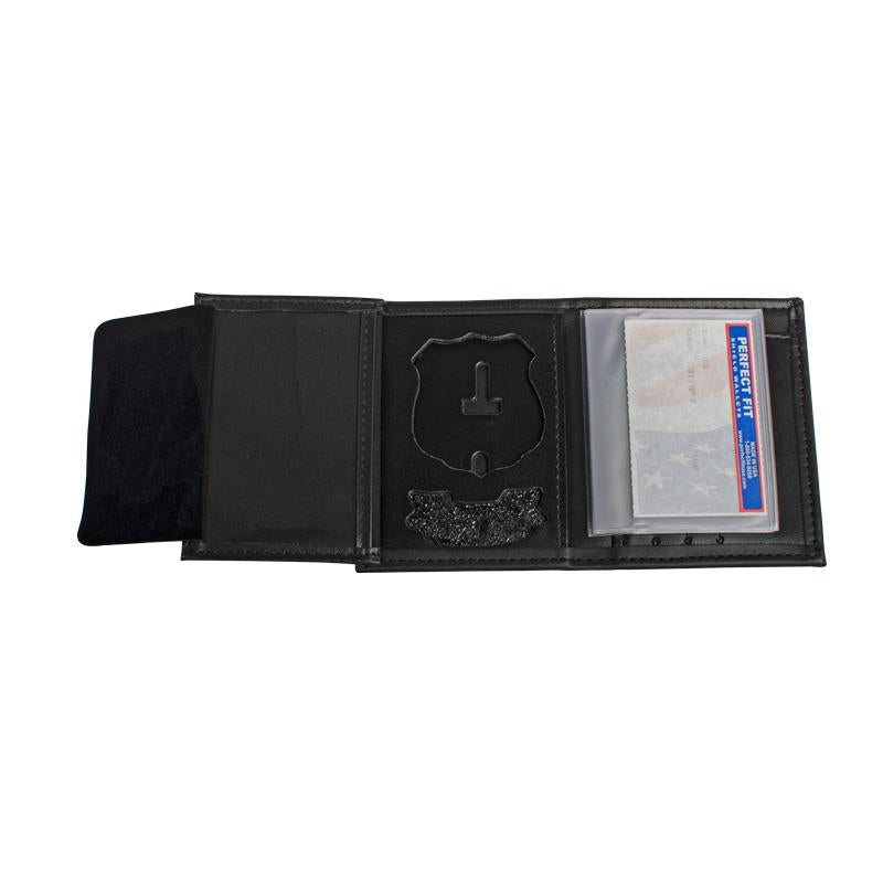 Perfect Fit Trifold Recessed Badge Wallet with Name Plate