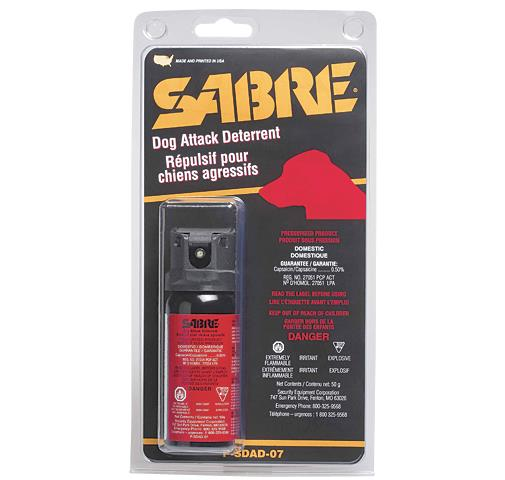 Sabre Dog Deterrent 50g Flip Top |P-SDAD-07| 911supply.ca