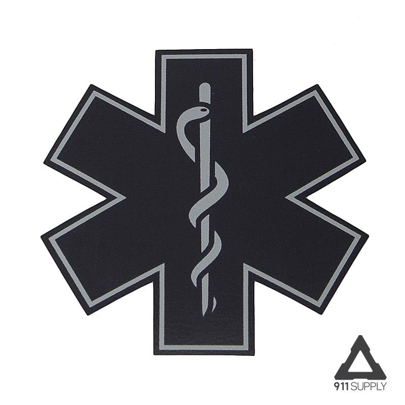 911 Supply Subdued Star Of Life Decal 3 inch