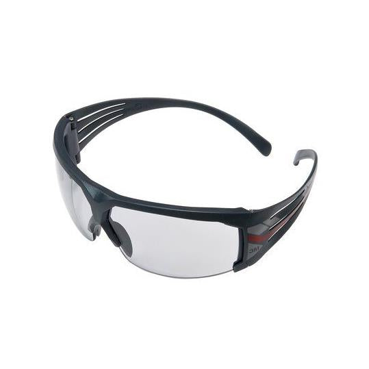 3M SecureFit Protective Eyewear 600 Series with GREY Scotchgard Anti-Fog Lens, SF607SGAF, indoor/outdoor