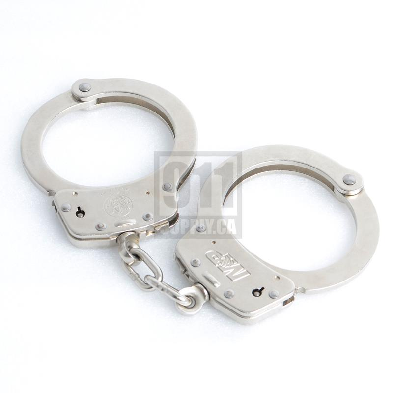 Smith and Wesson Handcuff Model 100-1 M&P Nickel |350122| 911supply.ca