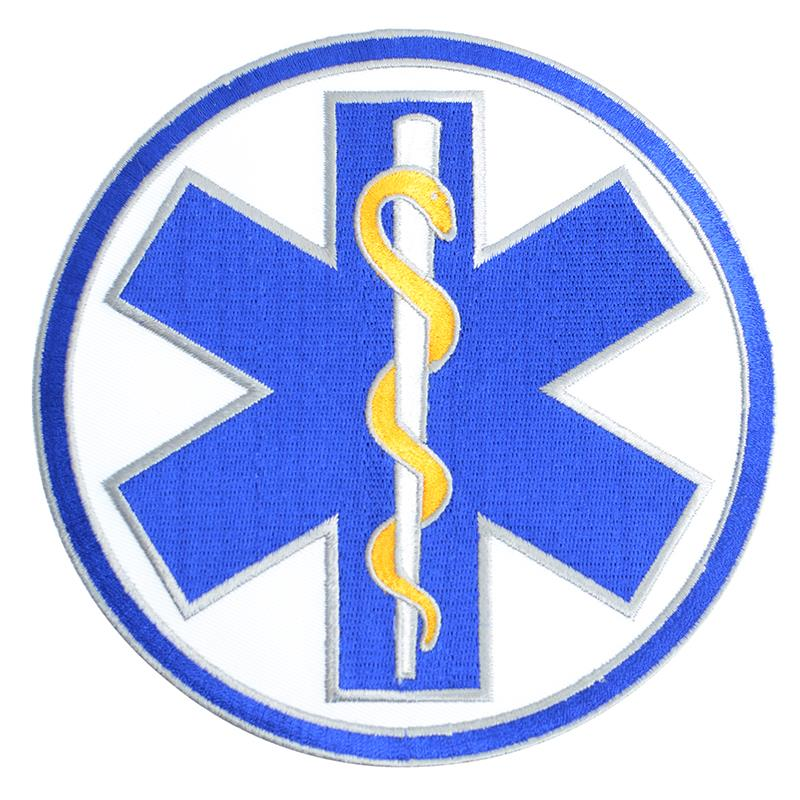 Star of Life Circle Patch with Gold Accent 6""