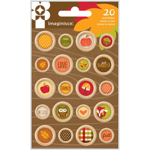 Imaginisce Give Thanks Wooden Buttons
