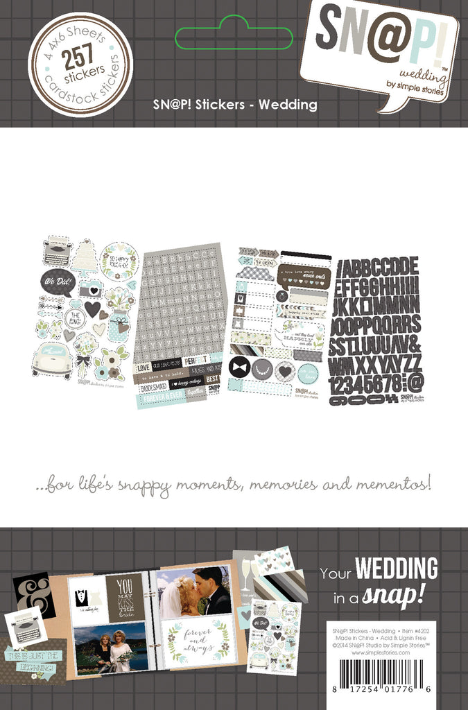 Simple Stories - Wedding Snap Stickers