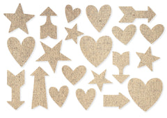Simple Stories - DIY Collection - Arrow Burlap Stickers