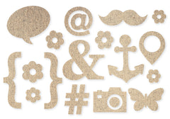 Simple Stories DIY Collection - Icons Burlap Stickers
