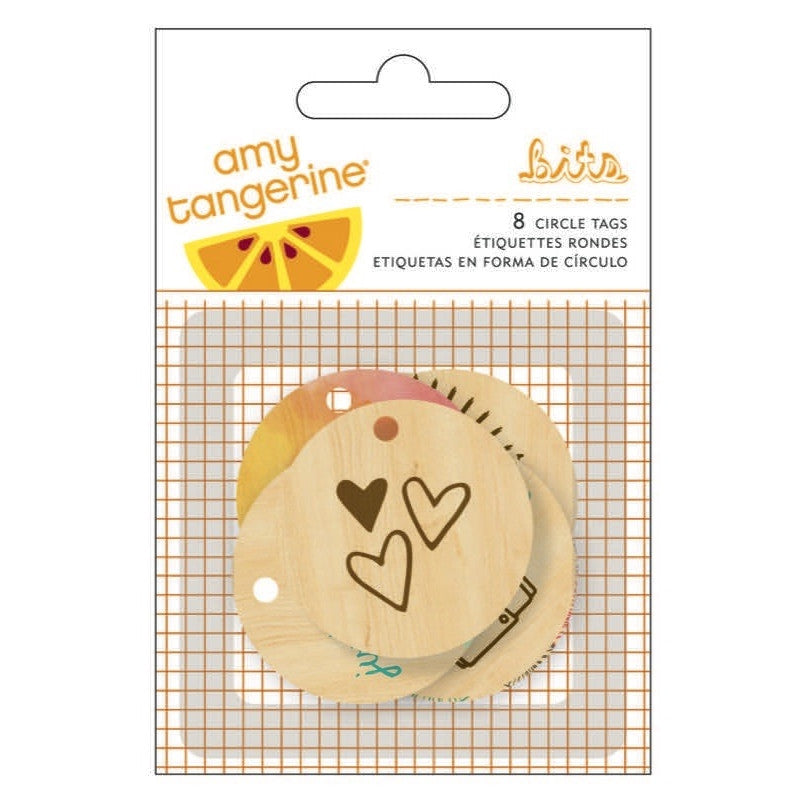 Amy Tangerine - Rise and Shine Veneer Tags